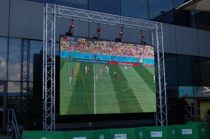 Large Projector Screen for Football Match